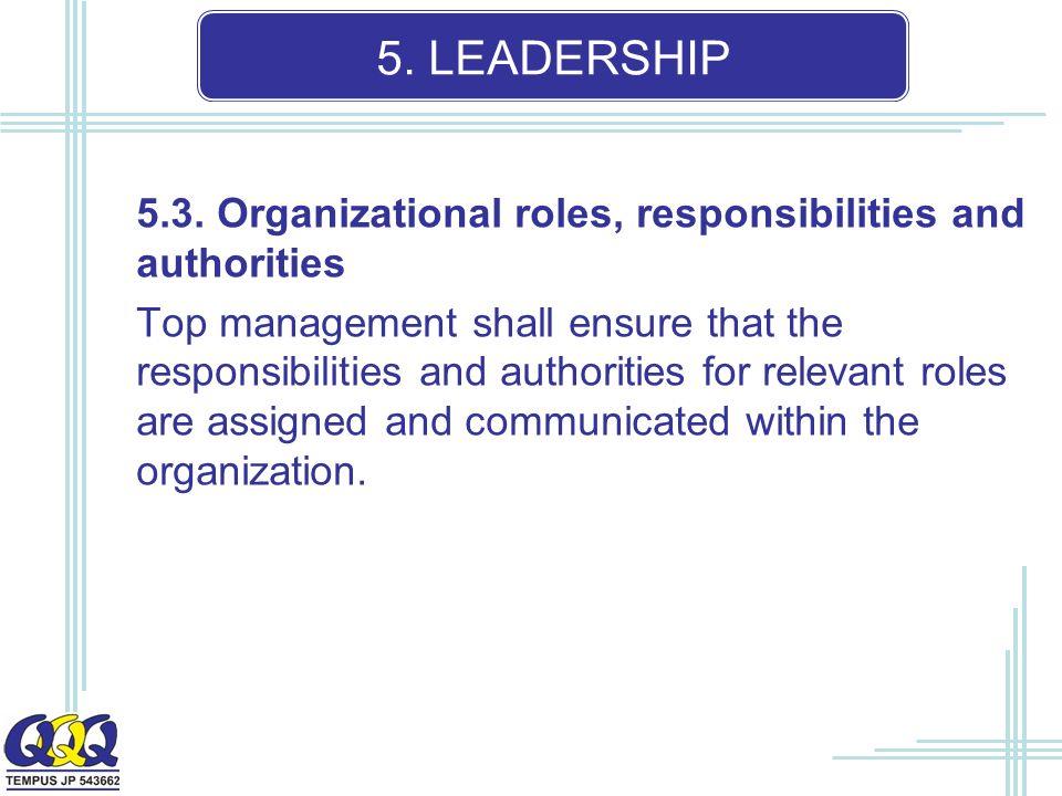 5. LEADERSHIP 5.3.
