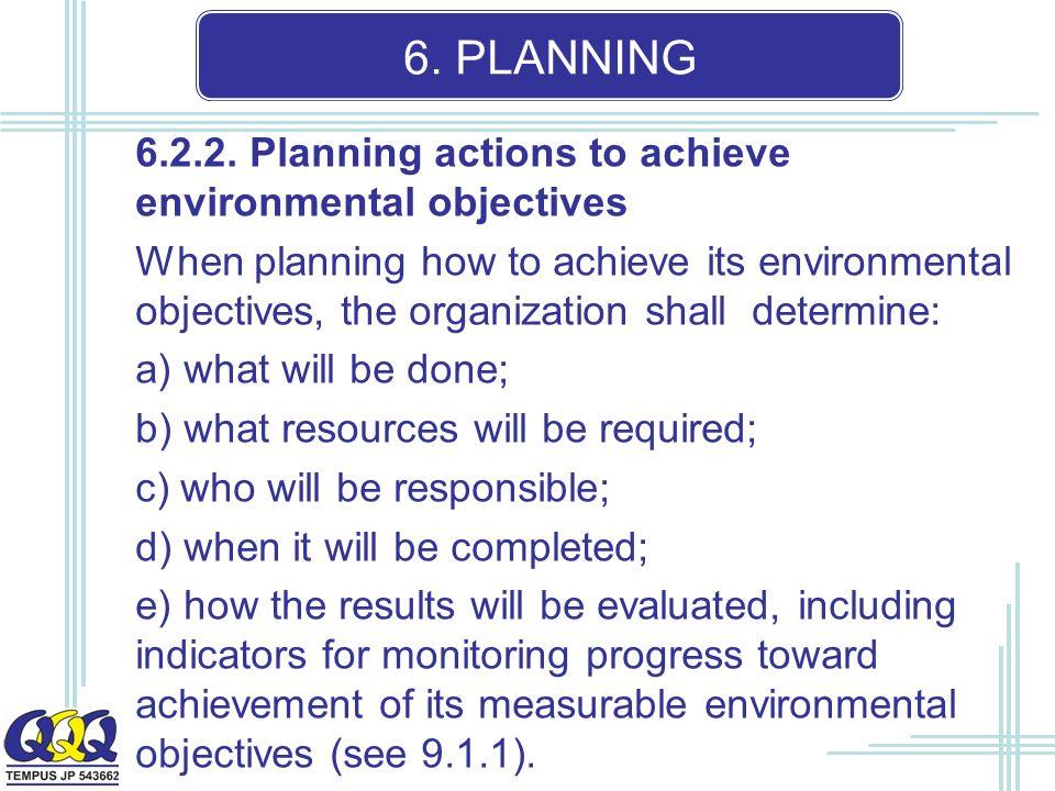 6. PLANNING 6.2.2.