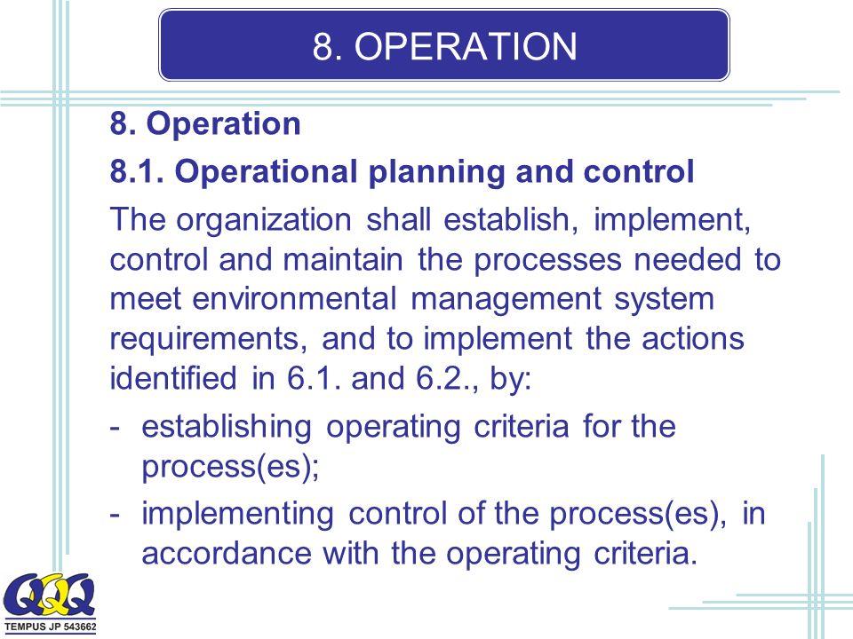 8. OPERATION 8. Operation 8.1.