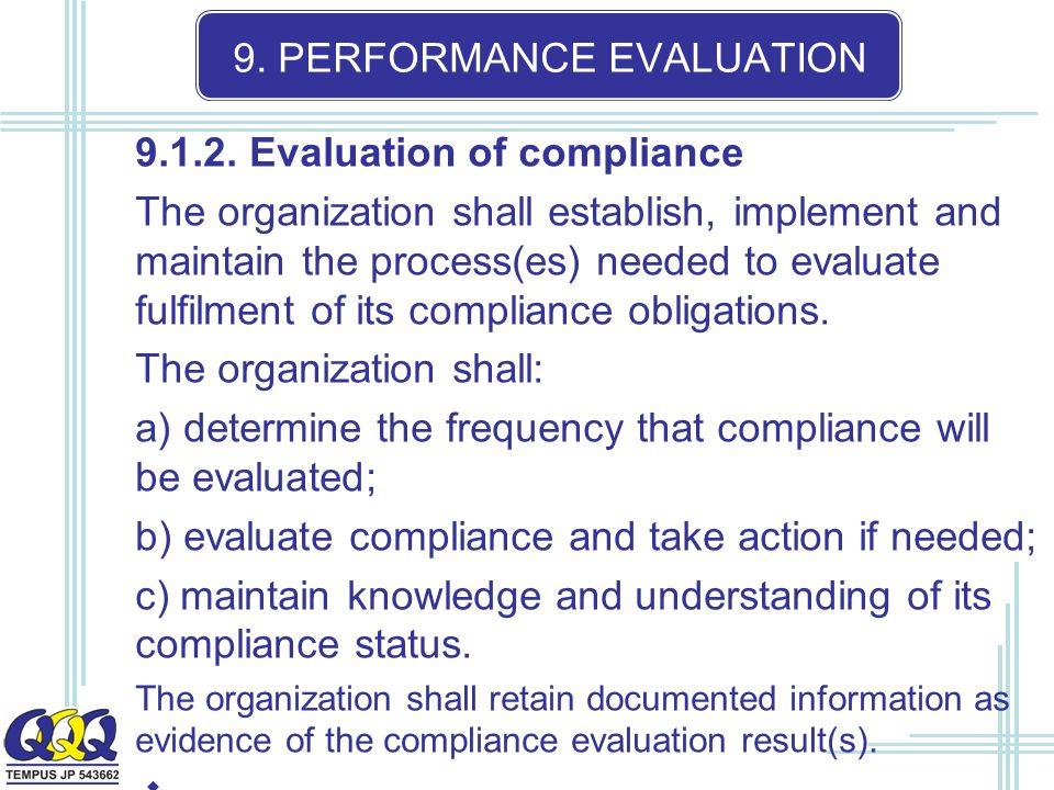 9. PERFORMANCE EVALUATION 9.1.2.