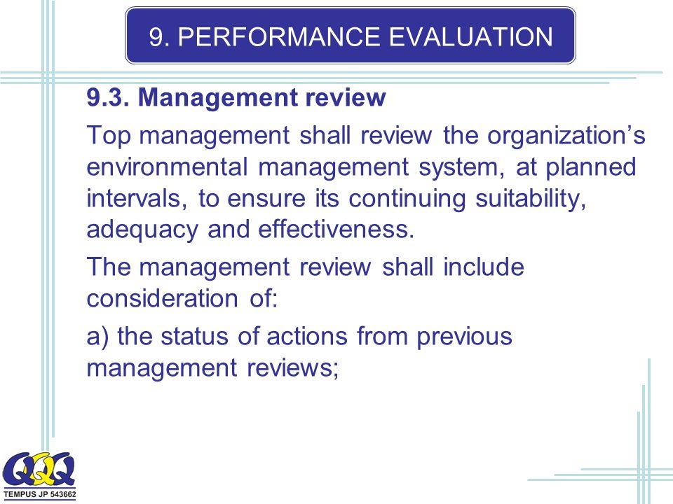 9. PERFORMANCE EVALUATION 9.3.
