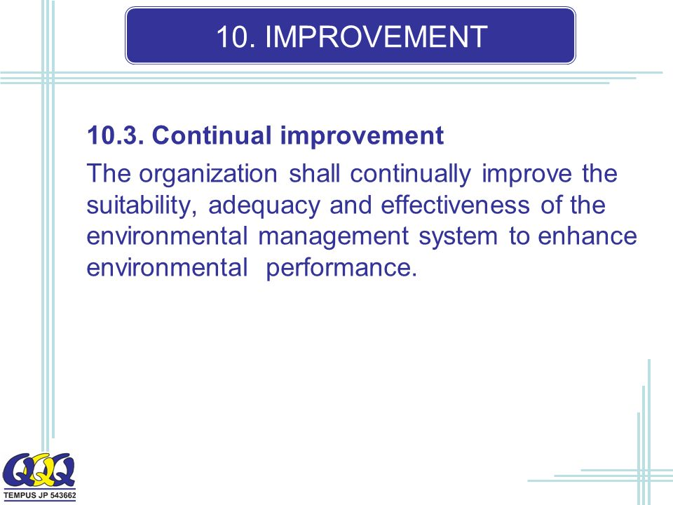 10. IMPROVEMENT 10.3.