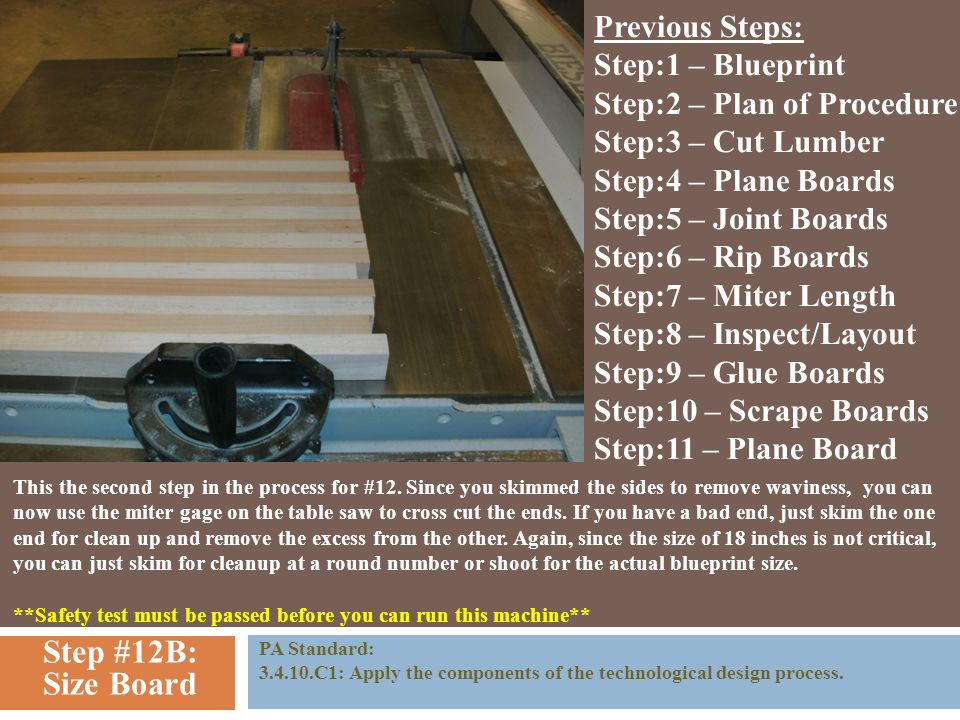 The cutting board plan of procedure step 1 blueprint you need 14 step malvernweather Gallery