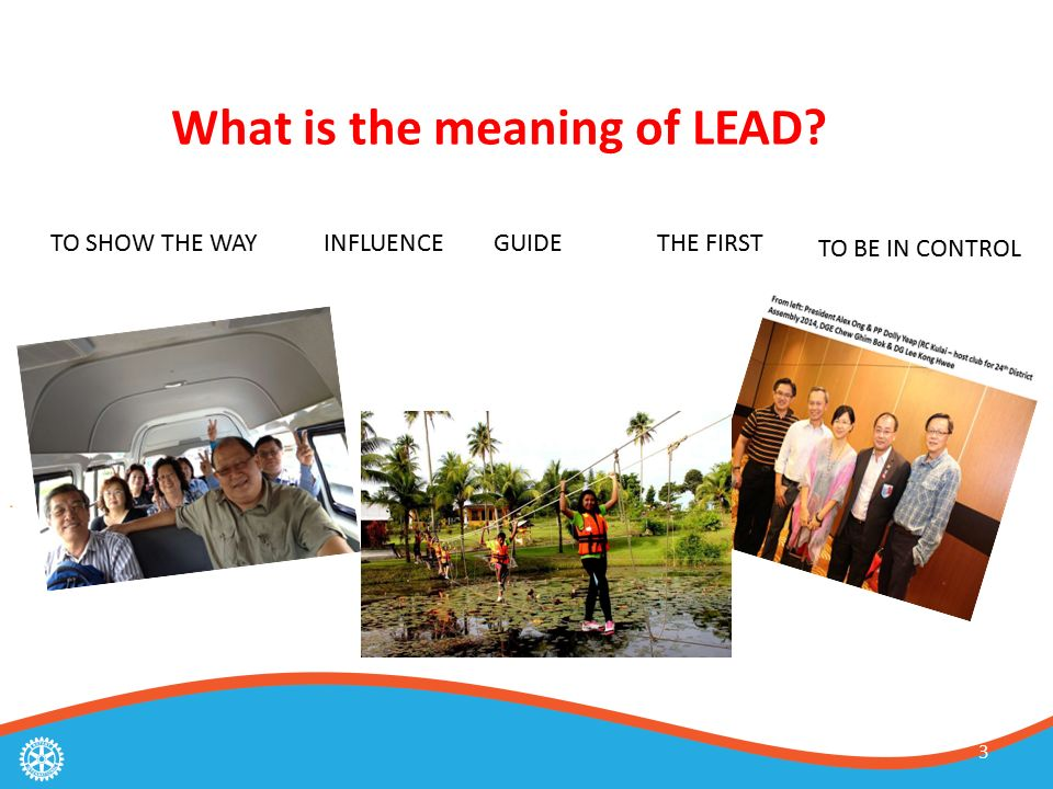 3 What is the meaning of LEAD TO SHOW THE WAYINFLUENCEGUIDETHE FIRST TO BE IN CONTROL