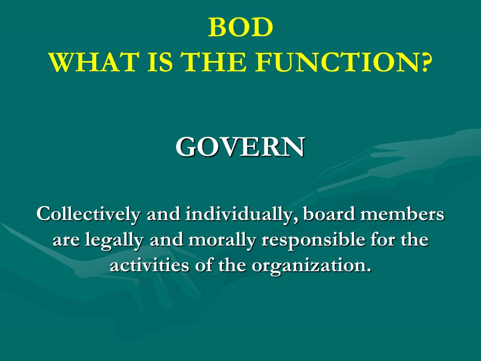 BOD WHAT IS THE FUNCTION.