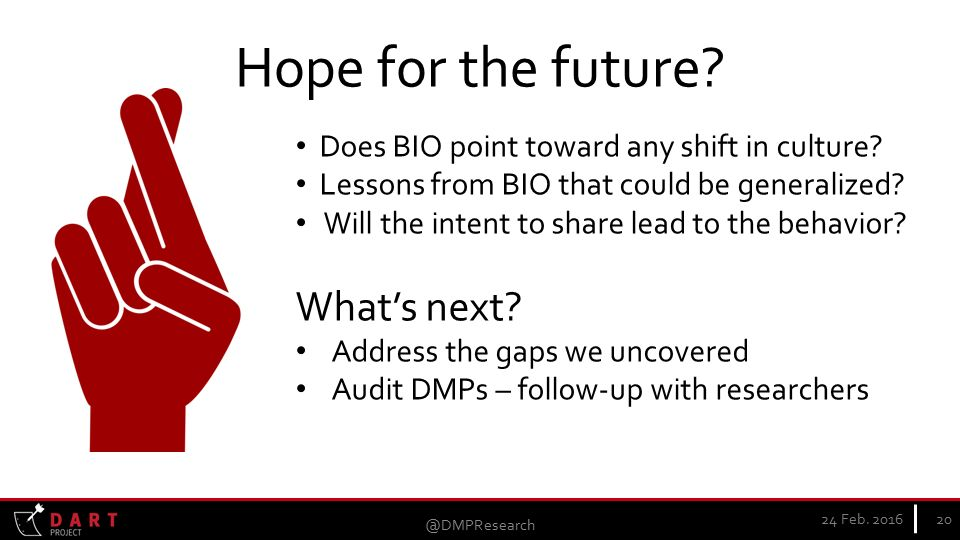 Hope for the future. 24 Feb. Does BIO point toward any shift in culture.