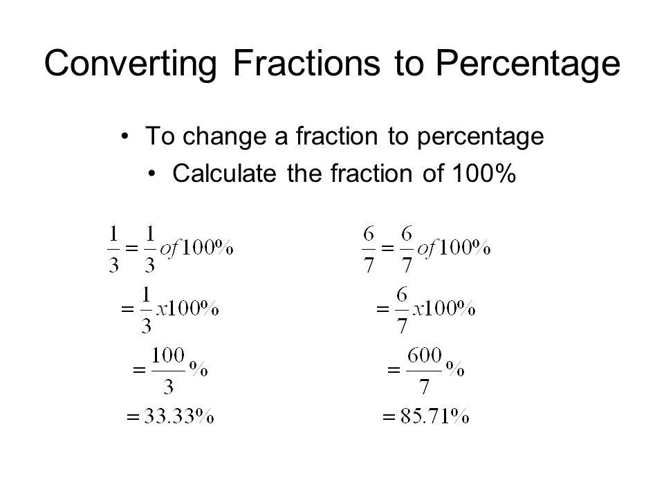 Common Fraction Decimal Percent Table   fraction decimal
