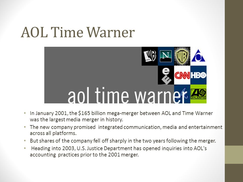 econimics merger between aol a essay Our writers assist with economics assignments and essay projects related to , america on line the merger of the millennium is between america on line.