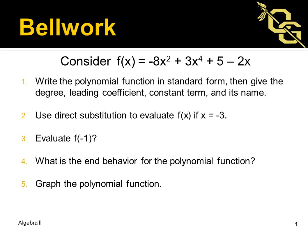 Consider fx 8x 2 3x 2x 1 write the polynomial function 1 consider falaconquin