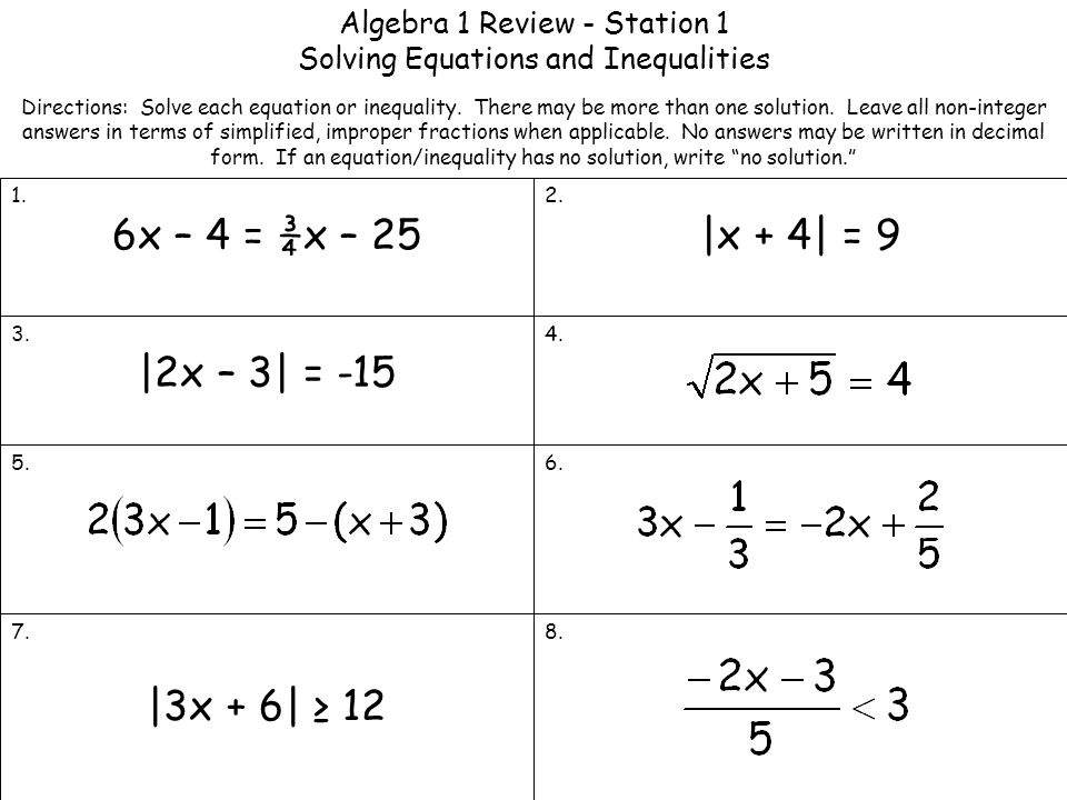 Printables Algebra 1 Linear Equations Worksheets algebra 1 review solving linear equations answers yesterday s solve worksheets for kids teachers free