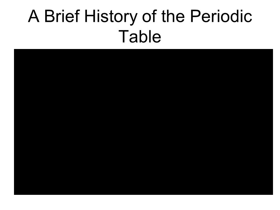 2 a brief history of the periodic table - Periodic Table History Activity