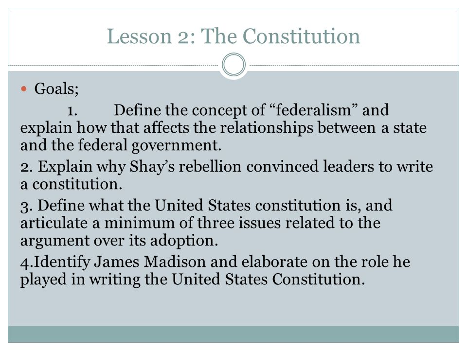 1 the federal constitution and the state