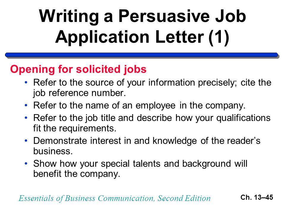 define letter of application