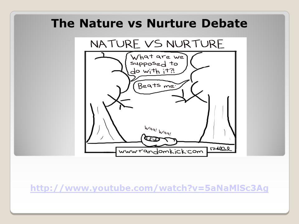 The Nature vs Nurture Debate http://www.youtube.com/watch v=5aNaMlSc3Ag