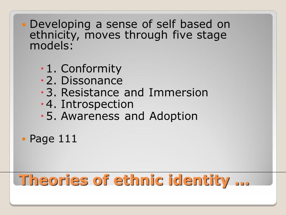 Theories of ethnic identity...