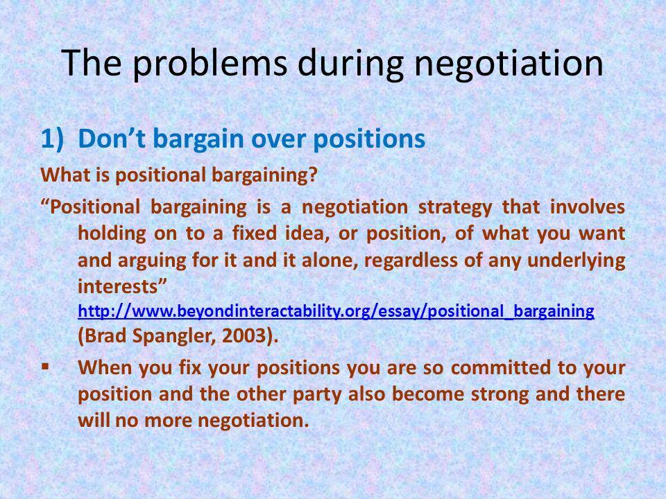 negotiation essay