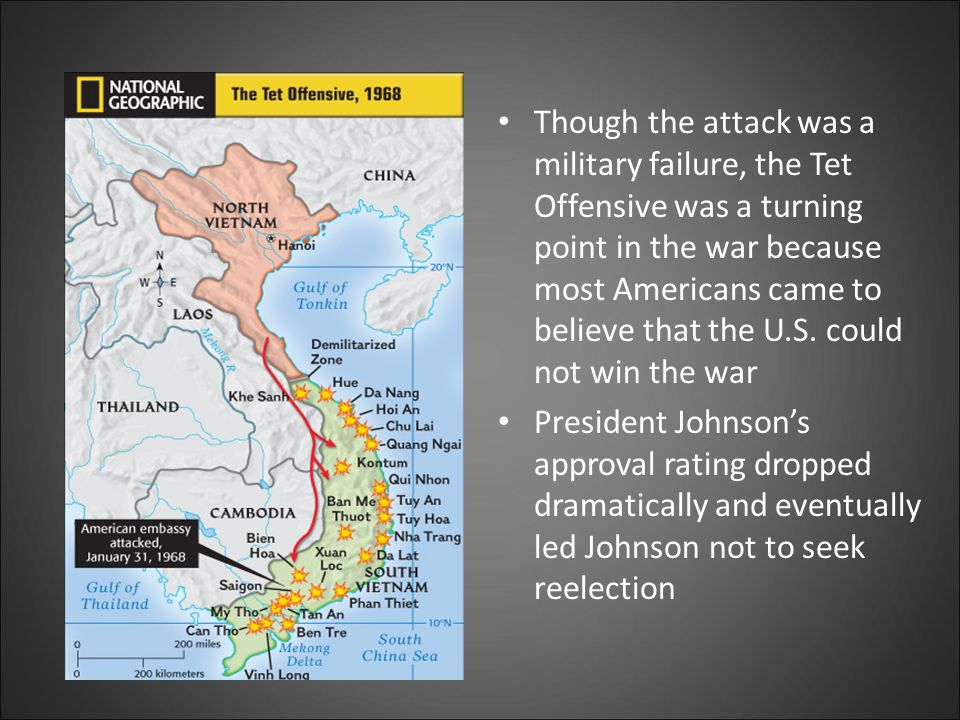 was the tet offensive a success or failure for north vietnam The tet offensive was a major turning point of the vietnam war the north vietnamese and viet cong staged a major offensive against south vietnam.