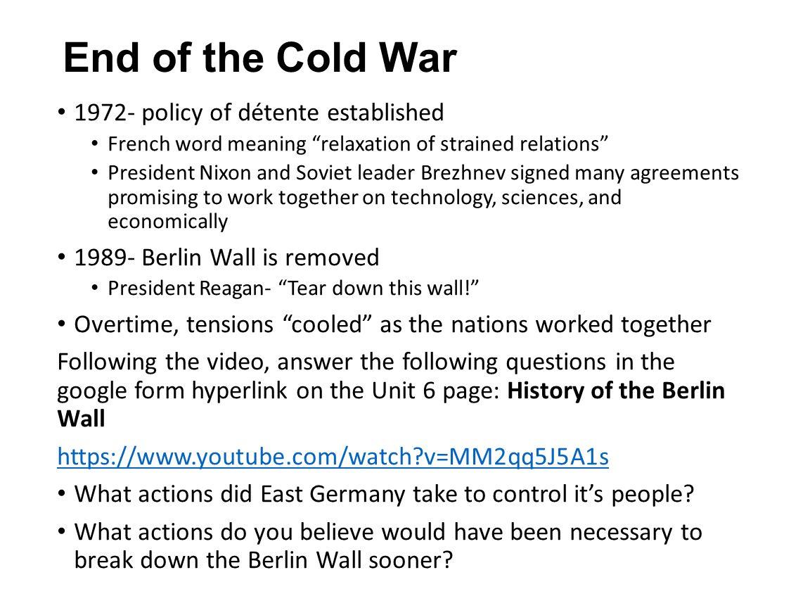 detente cold war