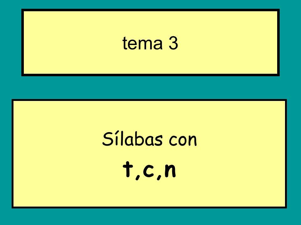 Sílabas con t,c,n tema 3