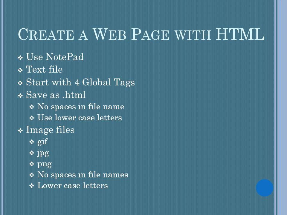 Html hypertext markup language the language used to design web 4 c spiritdancerdesigns Images