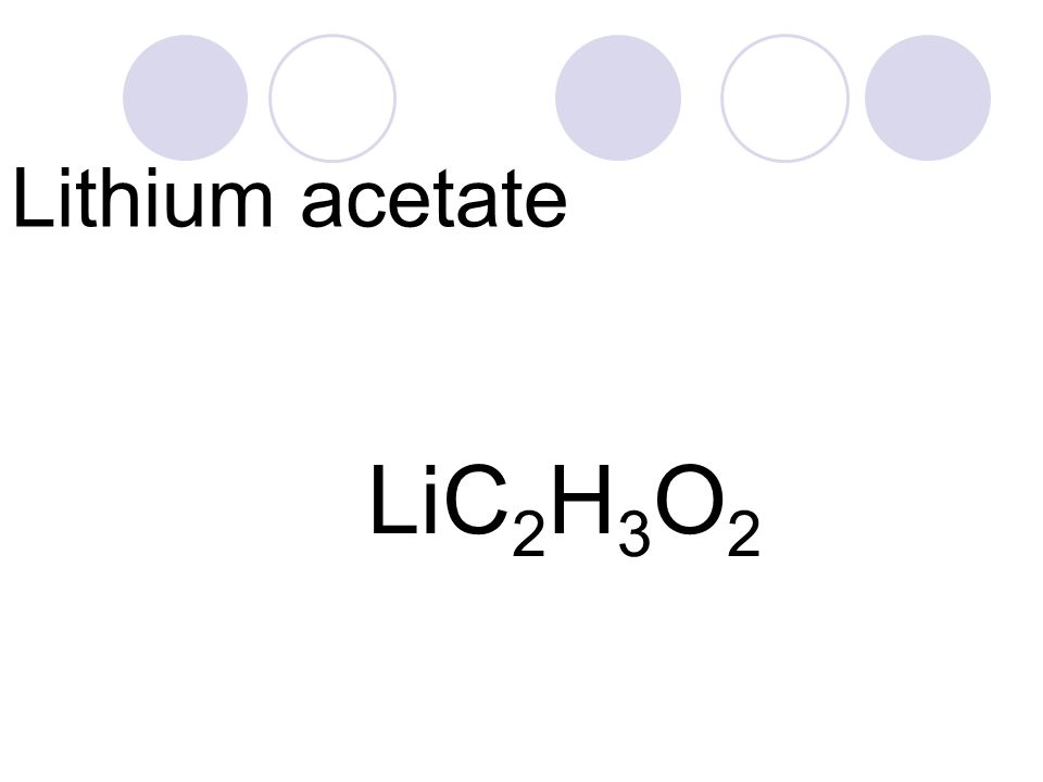 Lithium Acetate Symbol Image Collections Meaning Of This Symbol