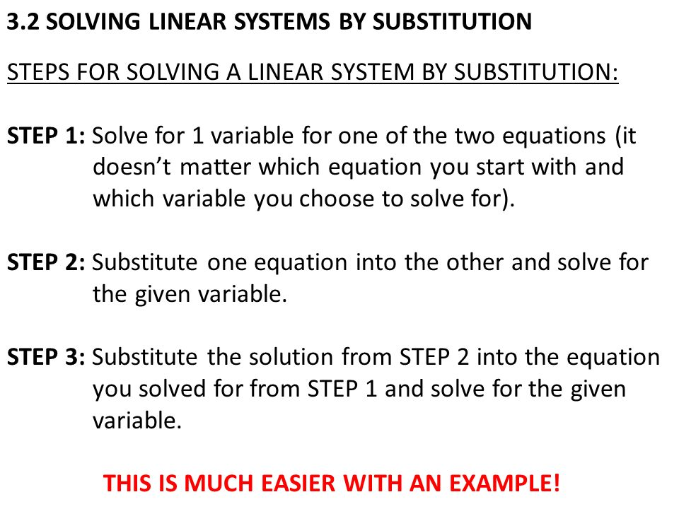 TODAY IN GEOMETRY Review Solving Linear Systems by Graphing – Solving Linear Systems by Substitution Worksheet