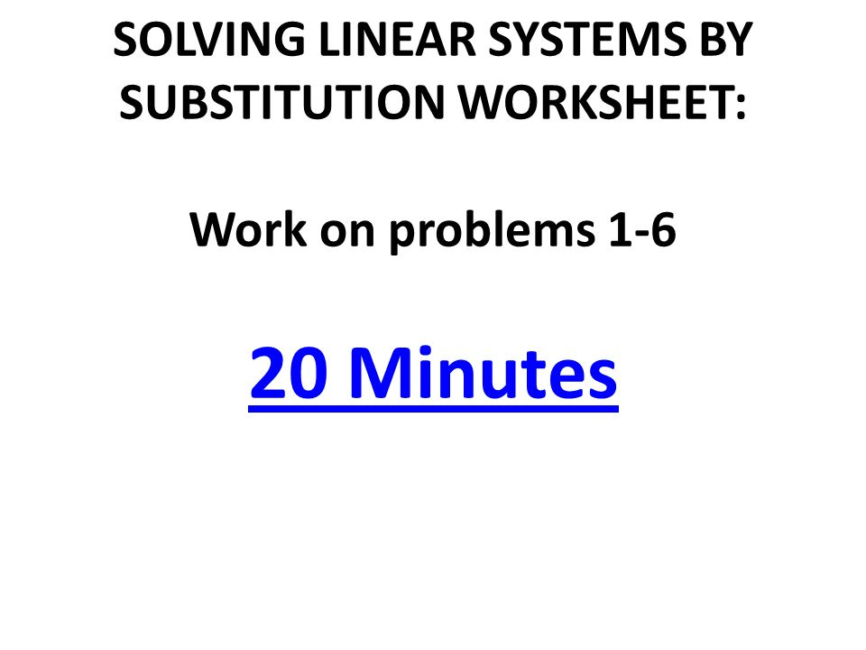 TODAY IN GEOMETRY Review Solving Linear Systems by Graphing – Linear Systems Worksheet