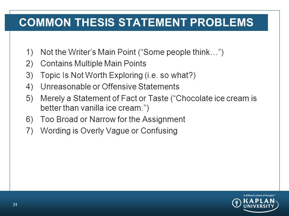 common thesis problems