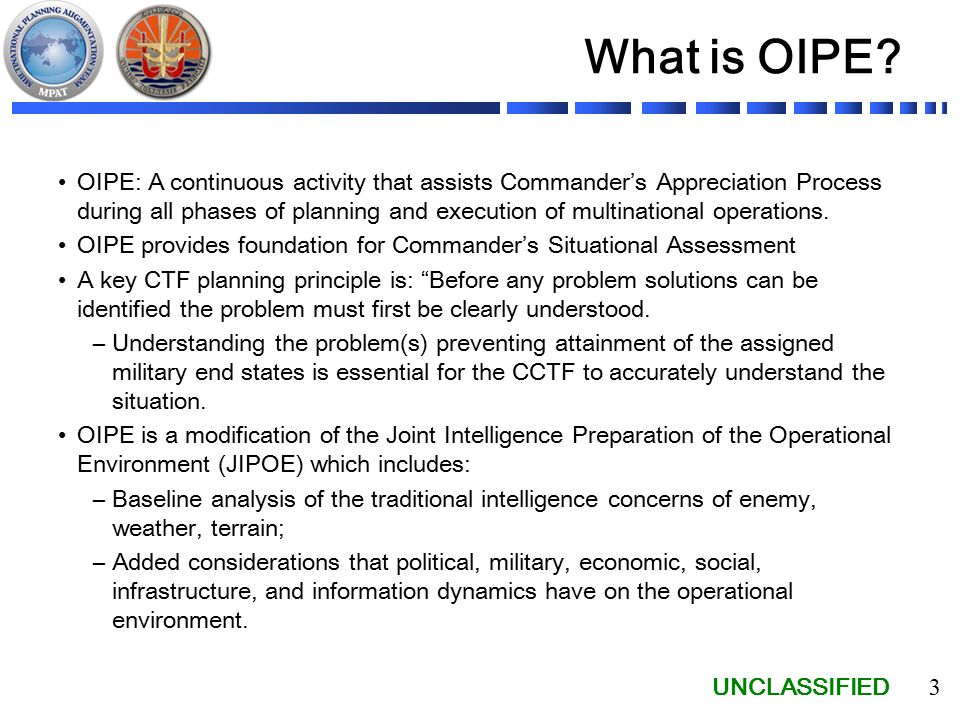 UNCLASSIFIED 1 Republic of Pacifica Operational Intelligence ...