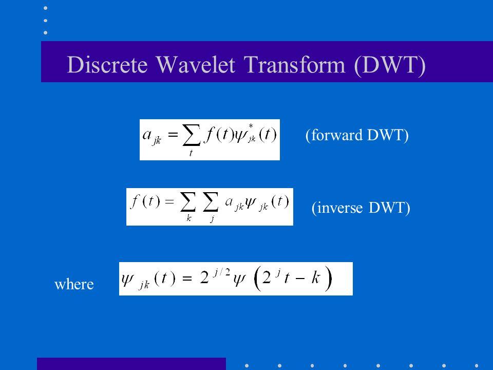 Discrete Wavelet Transform (DWT) (inverse DWT) (forward DWT) where