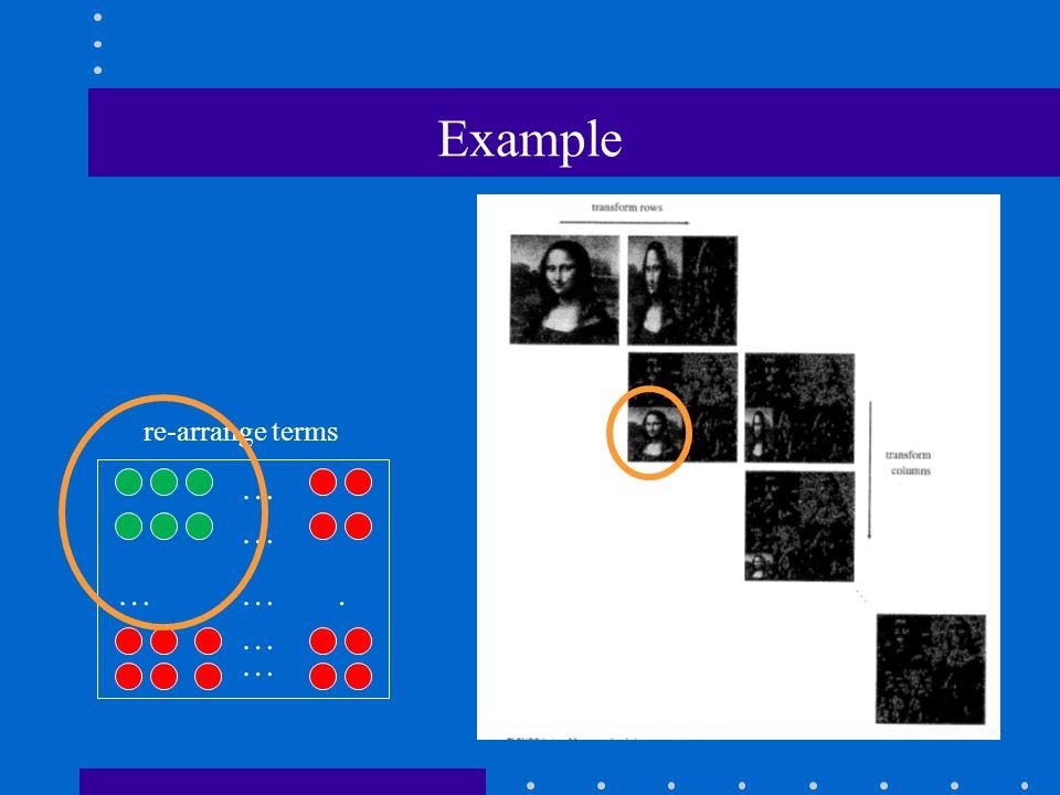 Example … … … …. … … re-arrange terms