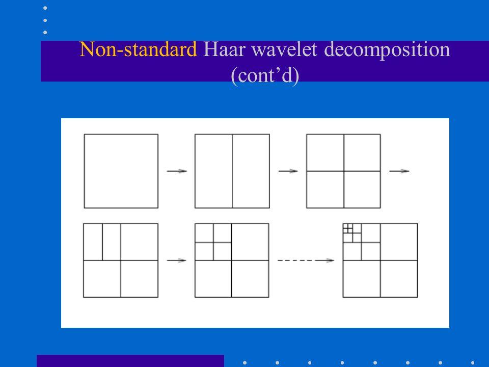 Non-standard Haar wavelet decomposition (cont'd)