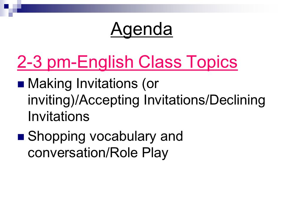 Welcome to English Class Wednesday May 7 ppt download