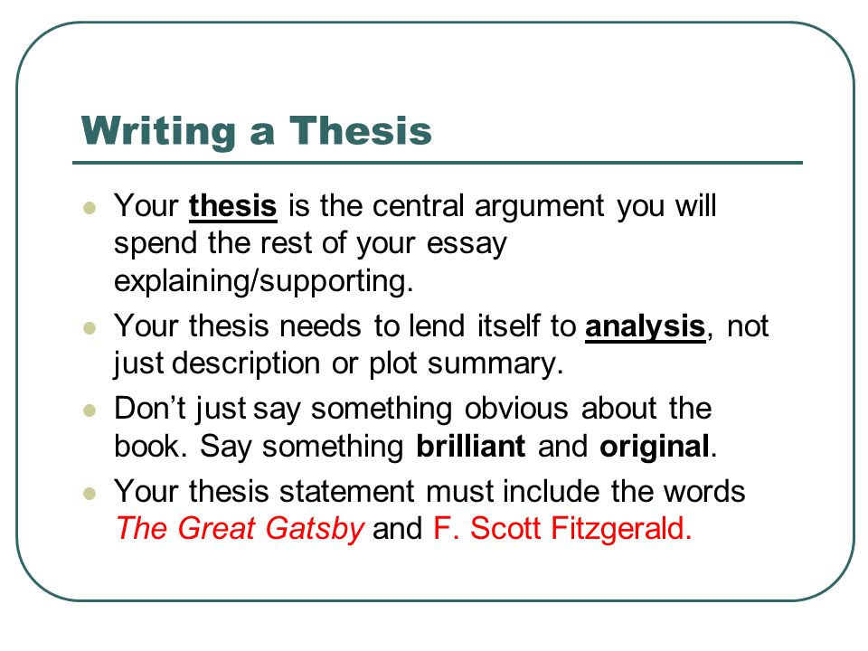 Great Thesis Statements Examples