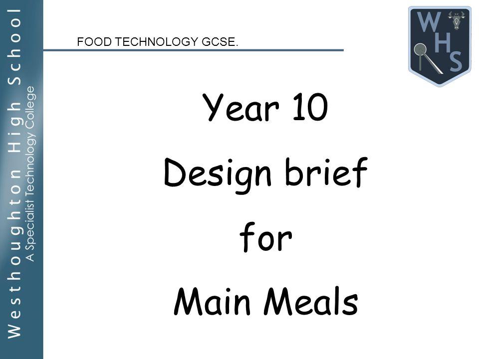 Appropriate recipe for food tech GCSE coursework...?