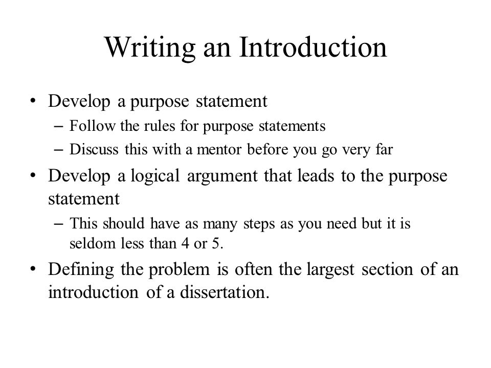 good introductions for dissertations The old adage first impressions count really holds true when it comes to thesis introductions after the title and the abstract, the introduction is the first thing the examiner sees they/we do form an opinion - sometimes quite a strong one - on what the rest of the text will be like.