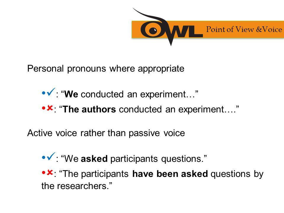 passive voice in essays
