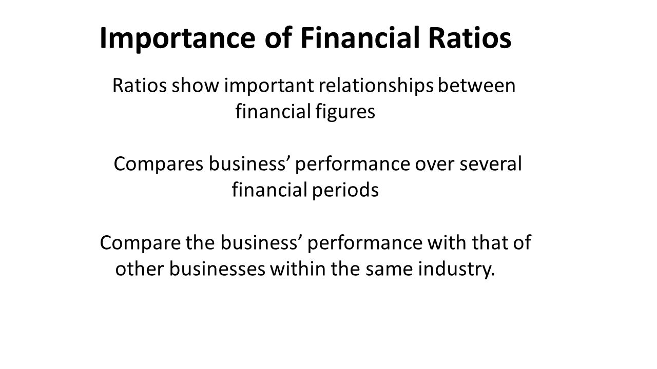 financial statements using appropriate ratios and comparisons Financial ratio analysis for ratios to be useful and meaningful, they must be: calculated using reliable, accurate financial information.