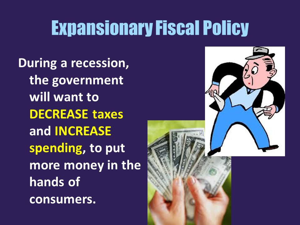 expansionary and concretionary fiscal policy Definition of expansionary monetary policy: a type of fiscal policy focused on increasing the size of a see also contractionary monetary policy.