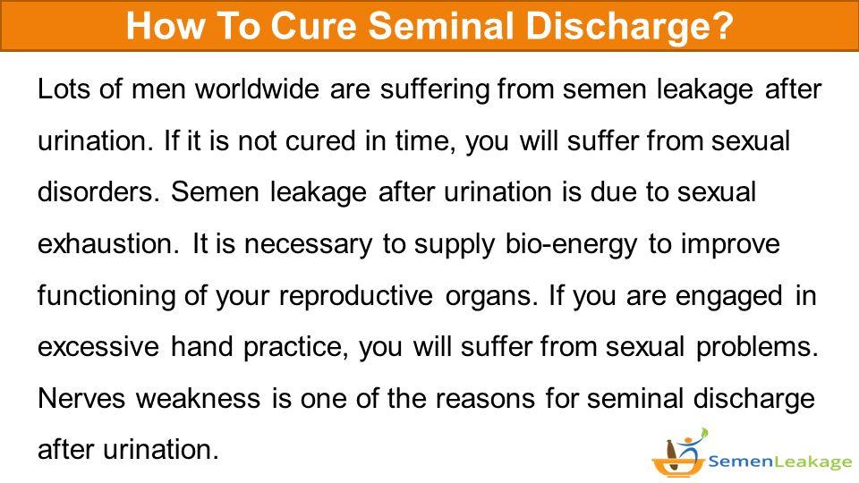 You get semen discharge after sex prostitute