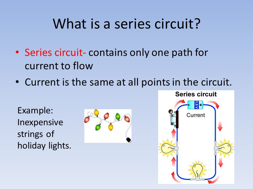 14.1 Series Circuits Swaney. Objectives 1. Describe a series circuit ...
