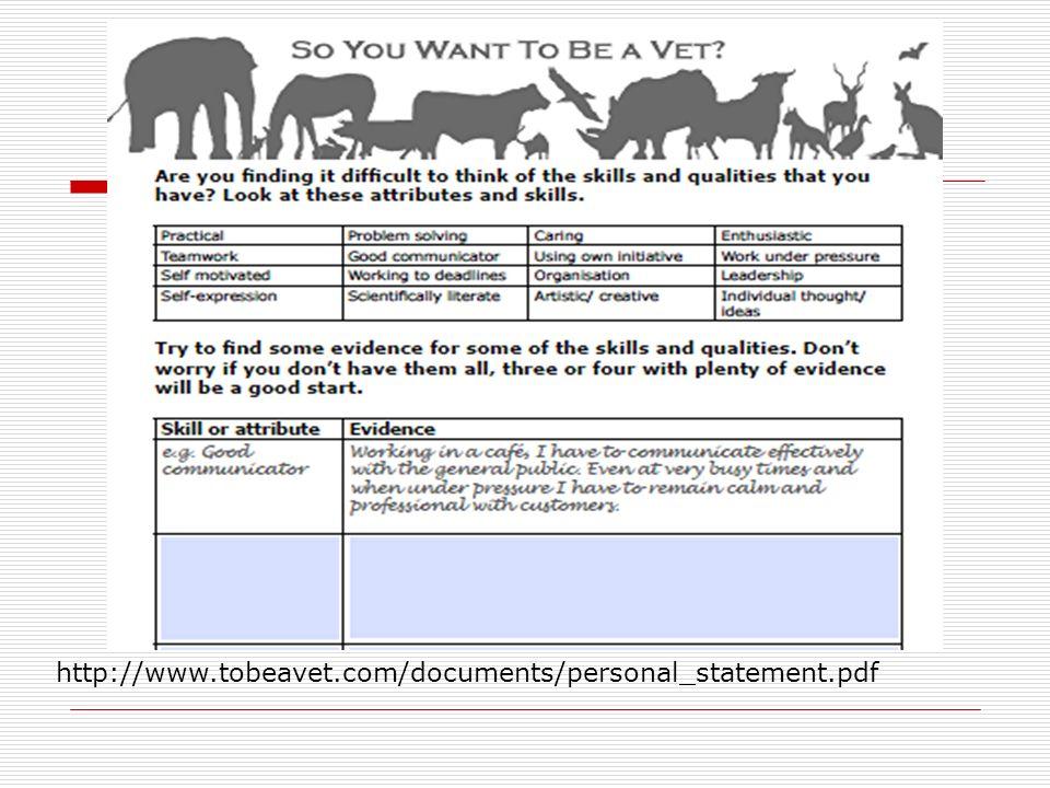 vet school personal statement uk