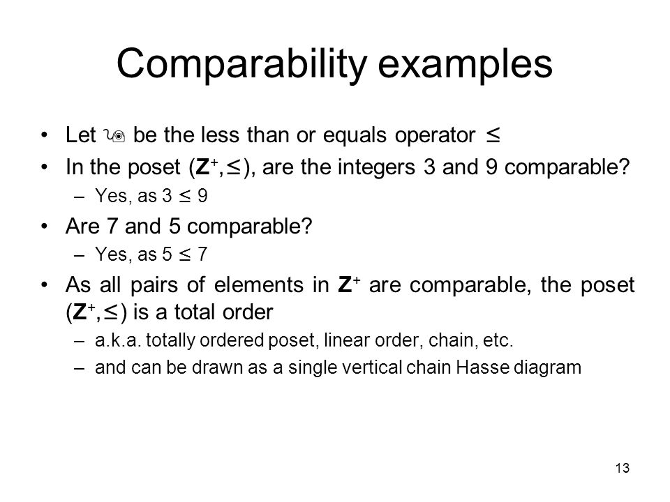 1 partial orderings epp section introduction an equivalence 13 13 comparability ccuart Image collections