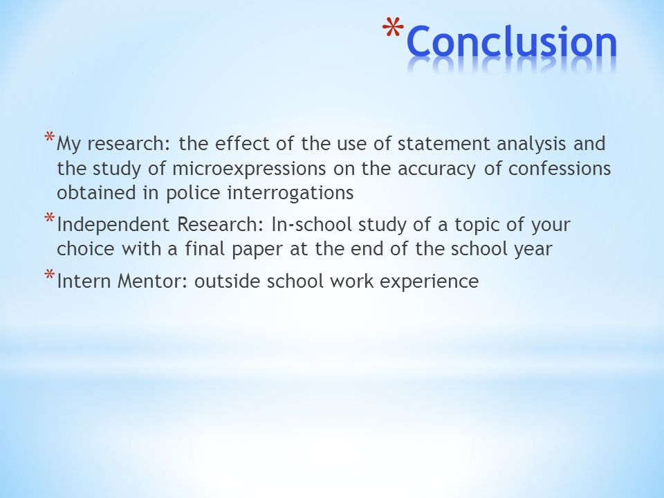 conclusion of a research paper Example student research paper color psychology paper research question: how does color affect one's mood review of literature: colors may just seem simple and unimportant, but they affect our daily lives more than.