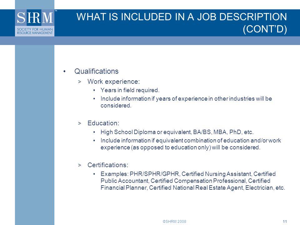 Job Descriptions Training for Supervisors. ©SHRM INTRODUCTION Job ...