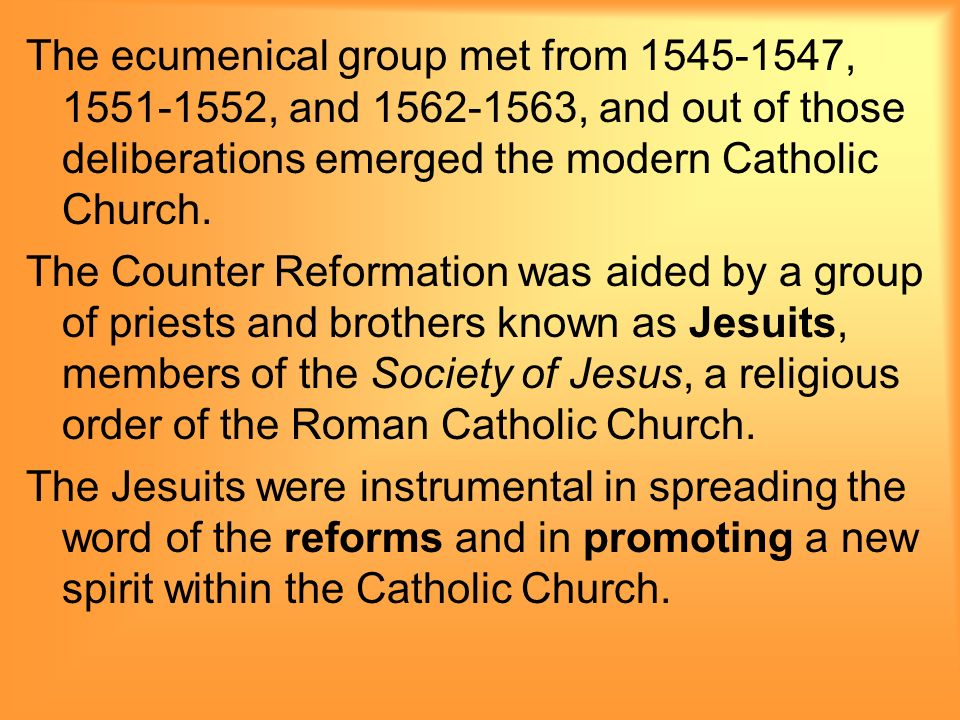 The age of reformation chapter 11 causes of the reformation 54 the ecumenical ccuart Choice Image