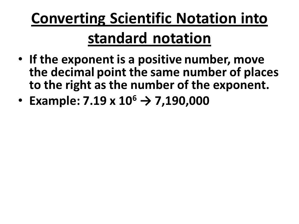 Scientific Notation Objectives Swbat Convert Between Standard