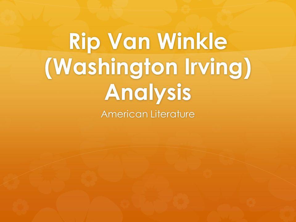 essay about rip van winkle