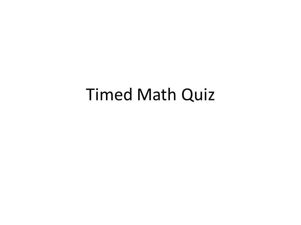 Timed Math Quiz. In This Part, You Learn How to Generate random ...