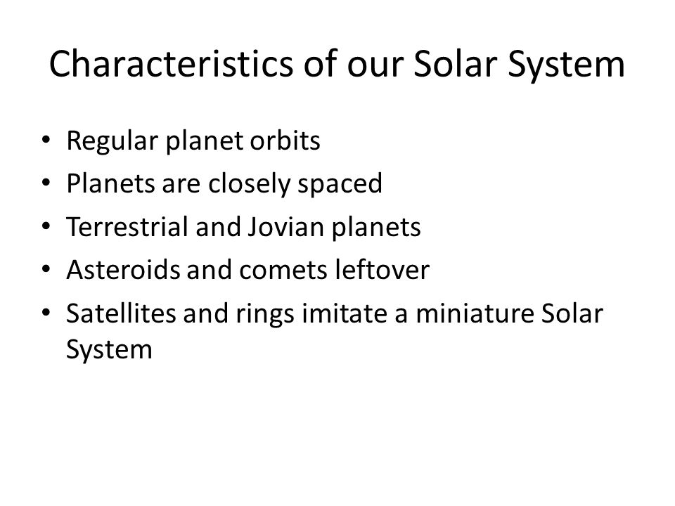 characteristics of the solar system planets